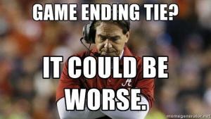 Game Ending Tie