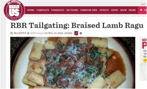 Screen Capture Lamb Pasta